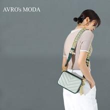 AVROs مودا موضة جلد طبيعي حقيبة كتف للنساء 2019 أنثى صغيرة حقيبة يد كروس خمر ساحة رسول رفرف حقيبة
