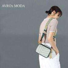 Женская сумка через плечо AVROs MODA, маленькая винтажная квадратная сумка мессенджер из натуральной кожи, 2019