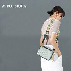 Image 1 - Avro moda moda couro genuíno bolsa de ombro para as mulheres 2019 feminino pequeno crossbody bolsa do vintage quadrado mensageiro saco aleta