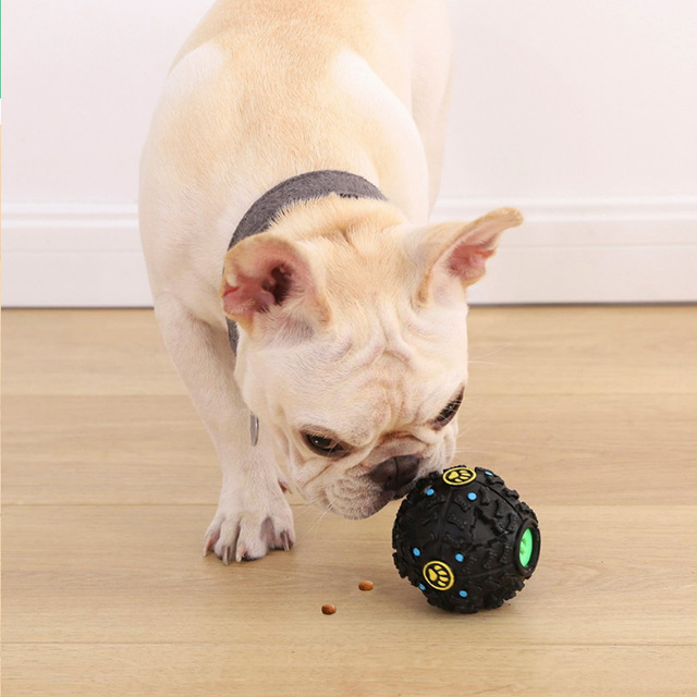 Youpin Pet Toy Relaxing Black Stimulating Grinding Teeth Leakage Food Vocal Ball  for Dog