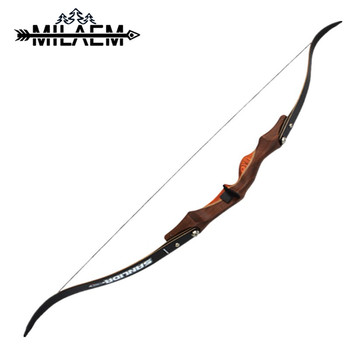 60 inch 30 lbs Hunting Recurve Bow Right Hand American Hunting Bow Takedown Bow For Archery Shooting Training Sports