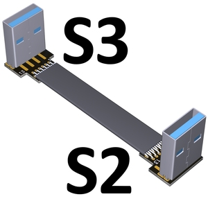 Image 4 - USB Ribbon Cable Flat EMI shielding FPC Extension Cable USB 3.0 90 degree Connector up and downward 5cm 3m Length customization