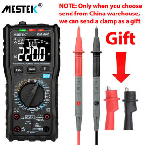 MESTEK Digital Multimeter Graph True-Rms DM100C Voltage Current-Ohm 10000-Count Button