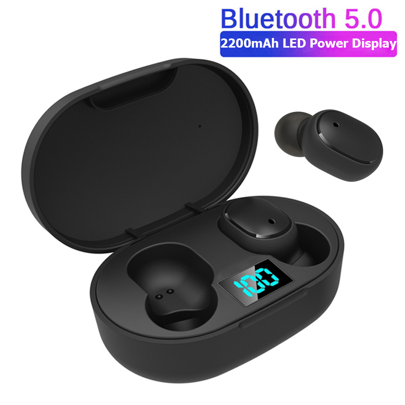 <font><b>TWS</b></font> <font><b>Wireless</b></font> Earphone For Redmi Earbuds LED Display Bluetooth V5.0 Headsets with Mic For iPhone Huawei Samsung pk <font><b>A6S</b></font> Earbuds image