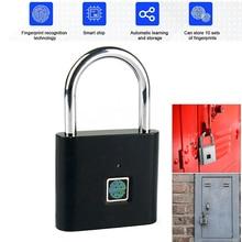 Biometric Door Lock Keyless Fingerprint Padlock Security Fingerprint Lock Electric Luggage Case Smart Lock Anti-theft Door Lock