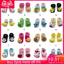 Children Summer Spring Autumn Clothes Cartoon Newborn Baby Infant Toddler Girls Boys Anti-Slip Socks Slipper Shoes Cotton Boots(China)