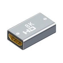ממיר Extender HDMI תואם כבל כבל הארכת מתאם 8K @ 60Hz HDMI נקבה לנקבה עבור PC טלוויזיה מקרן