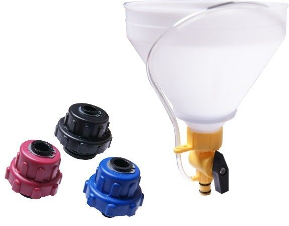 Engine Coolant Water Refilling Funnel Kit For GM Mitsubishi Nissan Mazda Toyota Ford Auto Radiator Repair Garage Tools AT2194