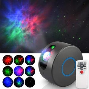 LED Night Star Laser Projector 360 Rotating Starry Sky Galaxy Projector with 15 Mode Lighting Shows for Bedroom Party Deco Show