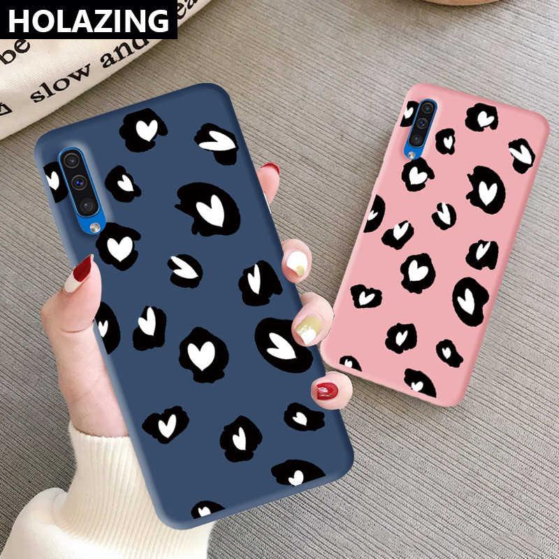 Untuk Samsung Galaxy A51 A71 A01 A11 A10 A20 A20S A50S A30 A30S A10S A70 A80 Warna TPU Lucu Leopard indah Lembut Silicone Cover