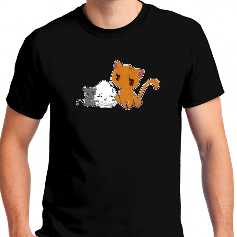 Fruits Basket Men's Black T-Shirt Tees Clothing