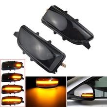 2PCS Dynamic Blinker Side Mirror Sequential Indicator LED Turn Signal Light For Volvo C30 C70 S40 S60 V40 V70 V50 2007-2012