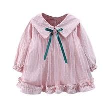 Girls Dress Autumn Casual Baby Girls Polka Dot Print Long Sl