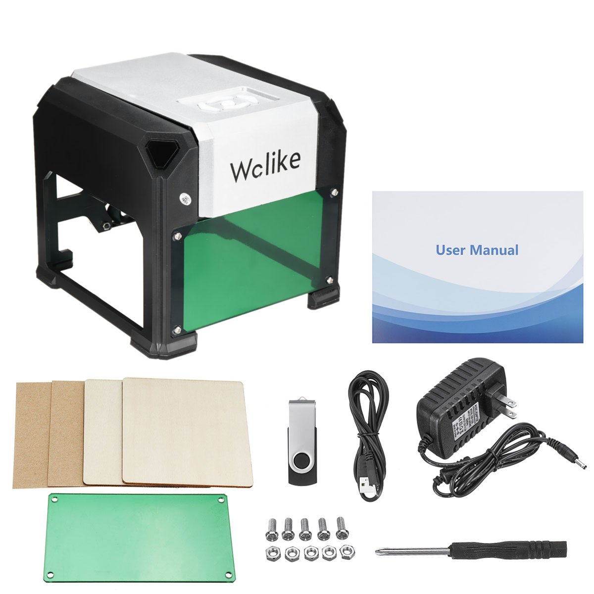 3000mW High Speed Laser Engraving Machine USB DIY Laser Engraver Printer Automatic Handicraft Wood Tools For WIN/Mac OS System