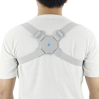 Aptoco Adjustable Smart Back Posture Corrector Intelligent Brace Support Belt Shoulder Training Correction Spine - discount item  54% OFF Health Care