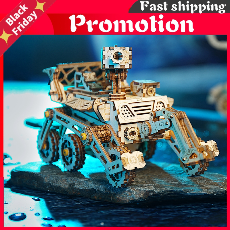 Moveable Solar Energy Powered Toy 3d Puzzle Diy Laser Cutting Wooden Model Building Kits Gifts Toy For Children Ls