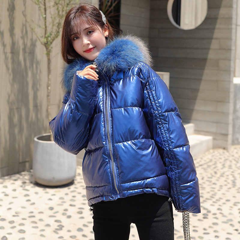Naturel fourrure col à capuche femmes Parka manteau hiver 2019 épaissir canard vers le bas femme veste Parkas plus chaud décontracté femme manteaux