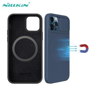 Image 1 - Voor Iphone 12 Pro 12 Pro Max Case Nillkin Camshield Zijdeachtige Magnetische Case Zachte Siliconen Slide Camera Bescherming Cover Voor IPhone12