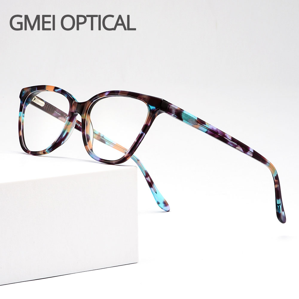 Fashion Acetate Cat Eye Style Women Glasses Frames With Spring Hinges Female Cute Myopia Prescription Spectacles Frame D62343