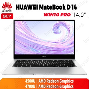 Original HUAWEI MateBook D 14 Laptop 14 inch AMD Ryzen r5-4500U/r7-4700U 16GB DDR4 512GB SSD Fingerprint ID Windows 10 Pro Engli