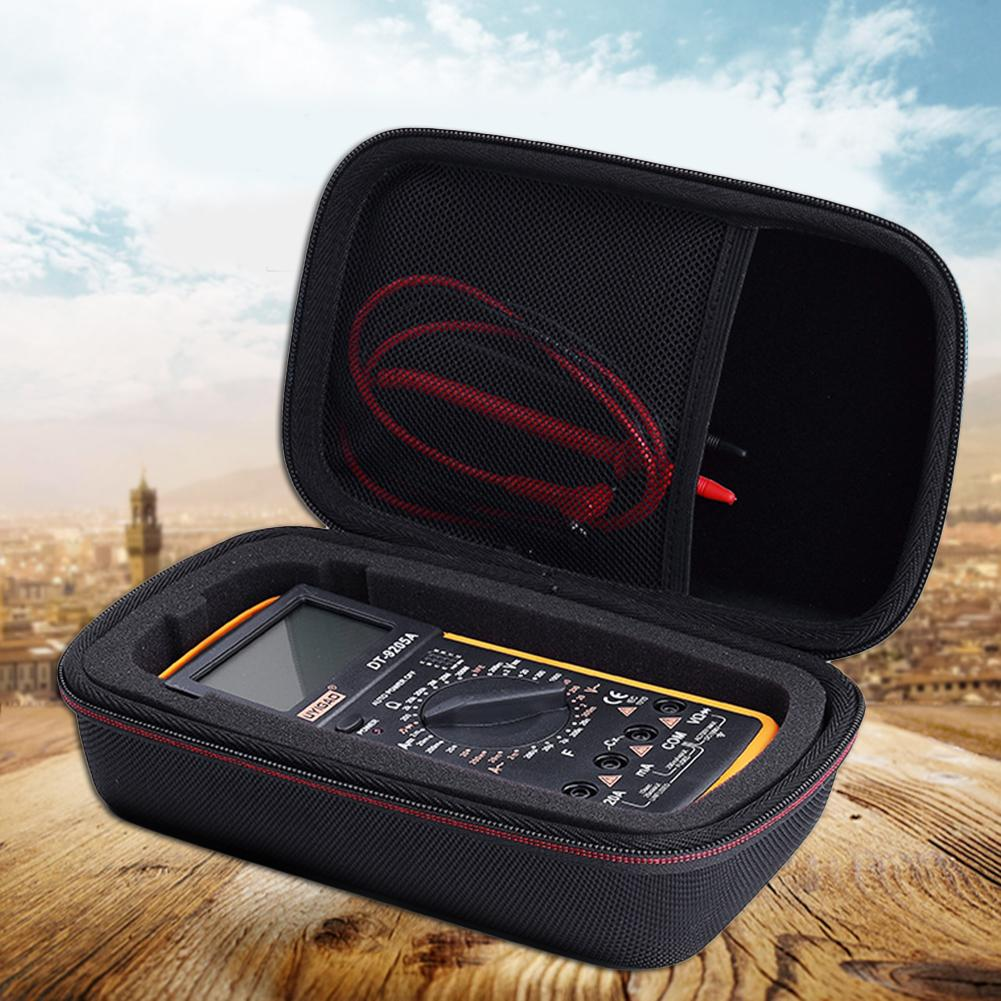 Portable EVA Tester Multimeters Storage Bag Carry Case For Fluke F117C/ F17B+/ F115C Digital Multimeter EVA PU Hard Travel Bag