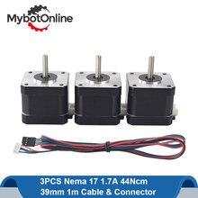 Nema 17 motor deslizante 42 motor nema17 stepping motor 38mm 42bygh 1.7a passo motor 4-chumbo para cnc impressora 3d