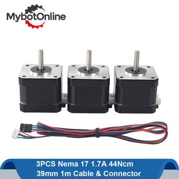 Nema 17 silnik krokowy 42 silnik Nema17 silnik krokowy 38mm 42BYGH 1 7A silnik krokowy 4-realizacji dla CNC 3D drukarki tanie i dobre opinie mybotonline CN (pochodzenie) ROHS 1 8deg Hybrid 17HS15-1704S 44Ncm(62 3oz in) Full D-cut 15mm 42 x 42x37 5mm 1 86 ohms 3 55 mH ± 20 (1KHz)