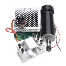 ER11 патрон CNC 500 Вт Шпиндельный двигатель с 52-миллиметровыми зажимами и регулятором скорости питания