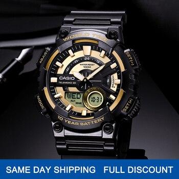 Casio часы Лучшие продажи взрыва часы мужчины установить лучший бренд класса люкс военный цифровые часы спортивные 100м Водонепроницаемые ква...