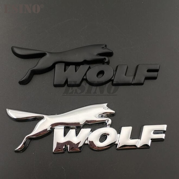 3D Wolf Racing Car Trunk Zinc Alloy Emblem Rear Body Tailgate Accessories Adhesive Styling Badge for Ford Focus ST Mustang GT image