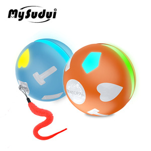 Image 1 - Pet Electric Cat Rolling Ball Toy Usb Led Ball Cat Toys Intelligence Jumping Ball Dog Toy Interactive Automatic Juguete Gato