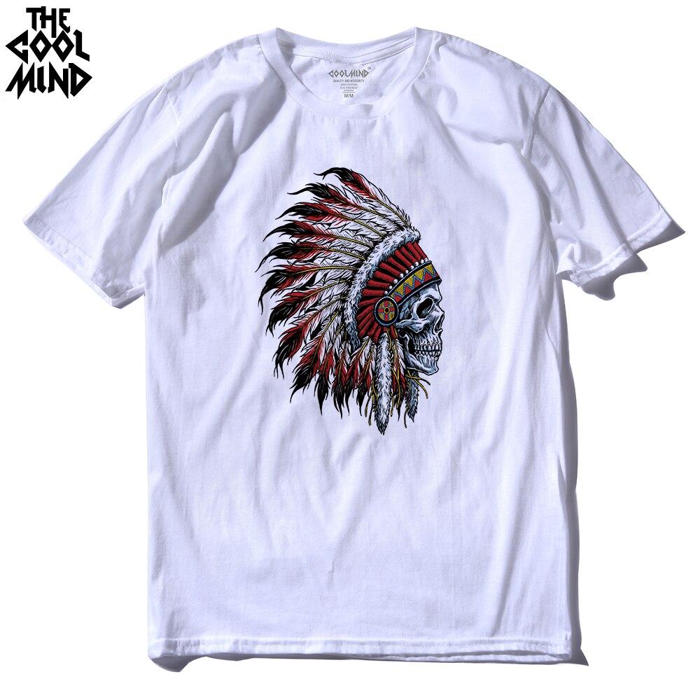 THE COOLMIND Short Sleeve Indian Printed Men Tshirt Cool Men's Tee Shirts Tops Men T-shirt 2016 100% Cotton Casual Mens T Shirts