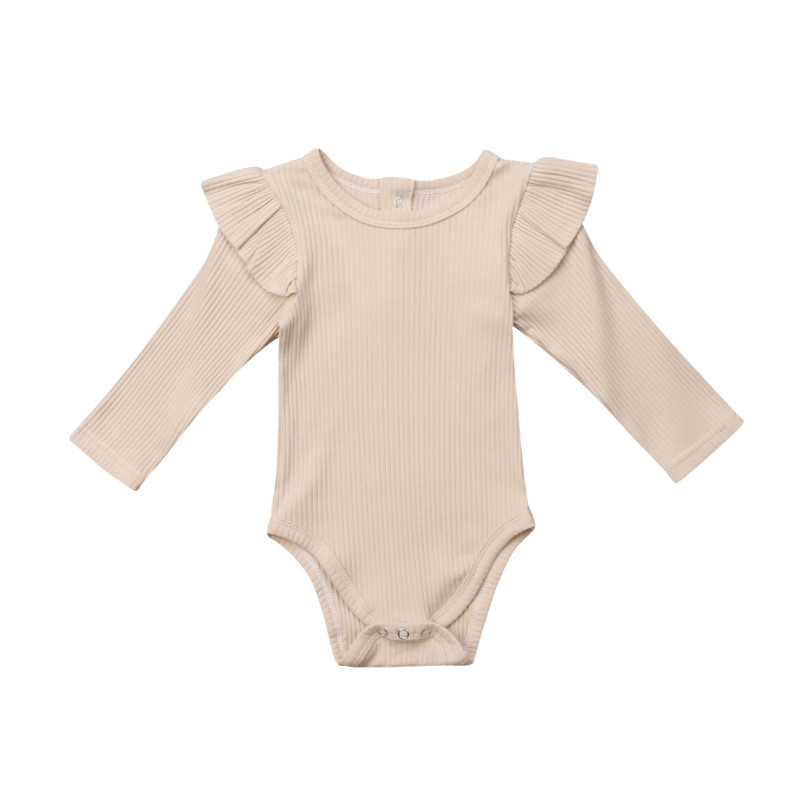 Baby Girl Rompers Autumn Princess Newborn Baby Clothes For 0-2Y Girls Boys Long Sleeve Jumpsuit Kids Baby Outfits Clothes 4