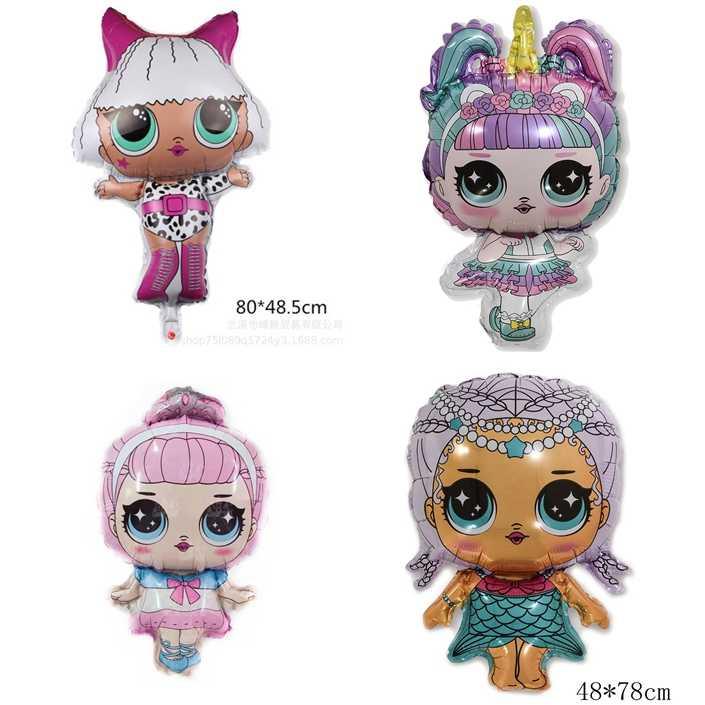 ¡Novedad 2020 original, L.O.L., sorpresa! Figuras de globos de juguete, muñecos originales de Lens para niños y niñas, regalos de cumpleaños, decoración de fiesta