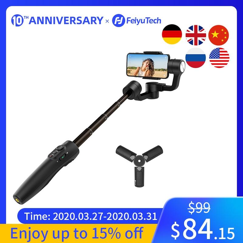 Feiyutech Vimble 2S 3-Axis Smartphone Gimbal Handheld Stabilizer 180mm Extendable Pole Tripod foriPhone X,iPhone XR,iPhone Xs,iPhone 8,iPhone7Plus,Huawei P9,Samsung S8+S9 Plus,XIAOMI