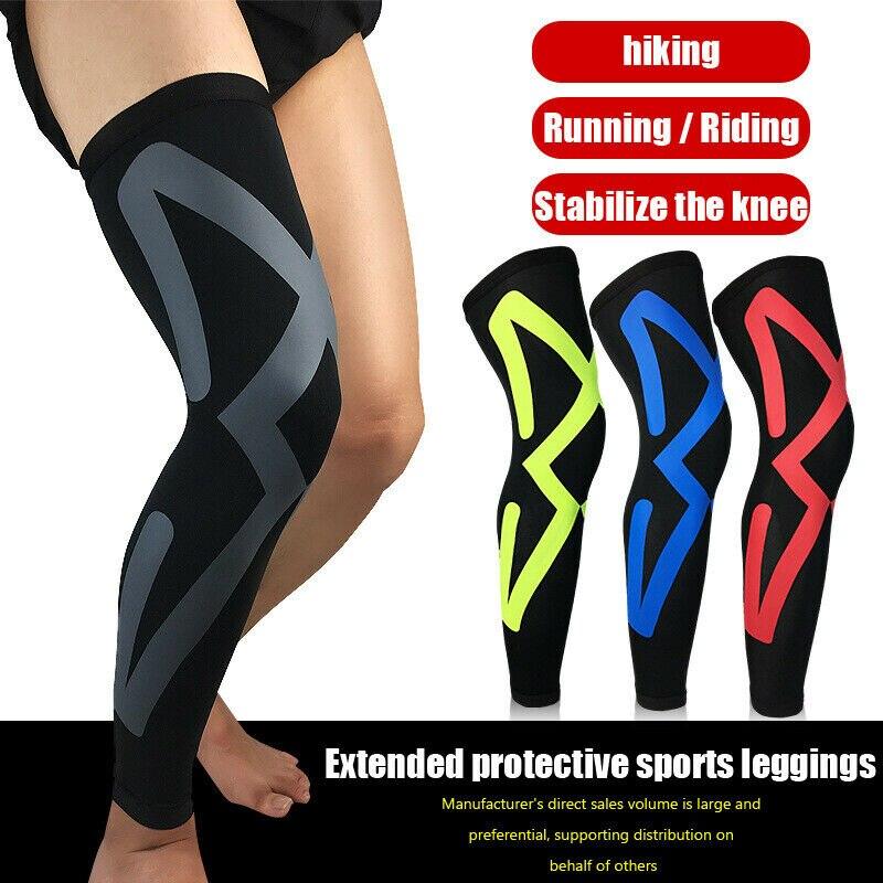 Leg Support Varicose Veins Knee Compression Sleeve Socks Stocking Men Women Sport Fitness Unisex Breathable Elastic Leg Warmers