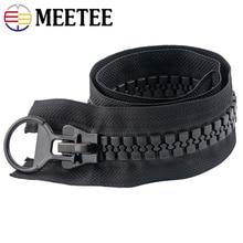 Meetee 20# 60/75/80/100/150/200CM Extra Large Resin Zipper White&black Open-end for Down Jacket Coat Pocket Sliders AP547