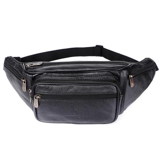 جلد طبيعي الخصر حقيبة الرجال الخصر مجموعة حقائب مخلفات مضحك حزمة حقيبة بحزام سلسلة رجالية الخصر حقيبة للهاتف الحقيبة Bolso zzنيك