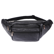 Lederen Heuptas Mannen Taille Verpakking Heuptas Grappig Pack Belt Bag Mannen Keten Taille Tas Voor Telefoon Pouch bolso Zznick