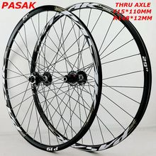 Downhill Wheelset Disc-Brake Off-Road Aluminum 26er MTB Thru 29 Pasak 32H F15X110 R12X148