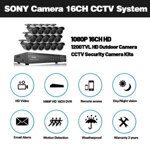 Image 2 - NINIVISION 16 Channel Security 1200TVL วิดีโอการเฝ้าระวังกลางแจ้งชุดกล้อง 16CH AHD กล้องวงจรปิด DVR บันทึกระบบกล้องวงจรปิด HDMI 1080P