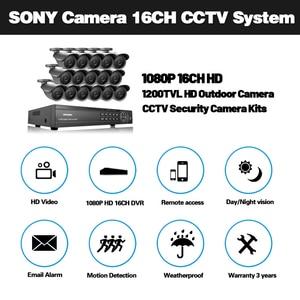 Image 2 - NINIVISION 16 kanal sicherheit 1200TVL 720P video überwachung im freien kamera kit 16ch 5MP 1080P AHD CCTV DVR Sicherheit system