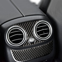 car air outlet For Mercedes C Class GLC W205 C180 Accessories C200 Rear Air Conditioning Outlet Panel Frame Cover Trim Car Stickers (2)