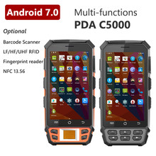 5 Inch Touch Screen 4G LTE Optional with QR Barcode Scanner 134.2khz LF R2000 UHF RFID Reader Android PDA