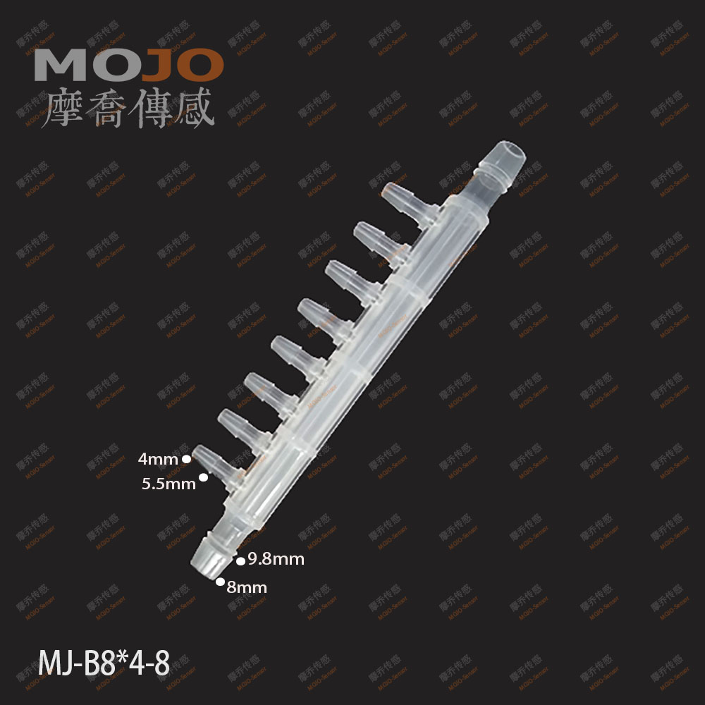 2020 Free Shipping!MJ-B8X4-8(100pcs/Lots)  Hose Connectors 8mm To 4mm Eight Way Pipe Joint PP Plastic Multiple Pass Pipe Fitting