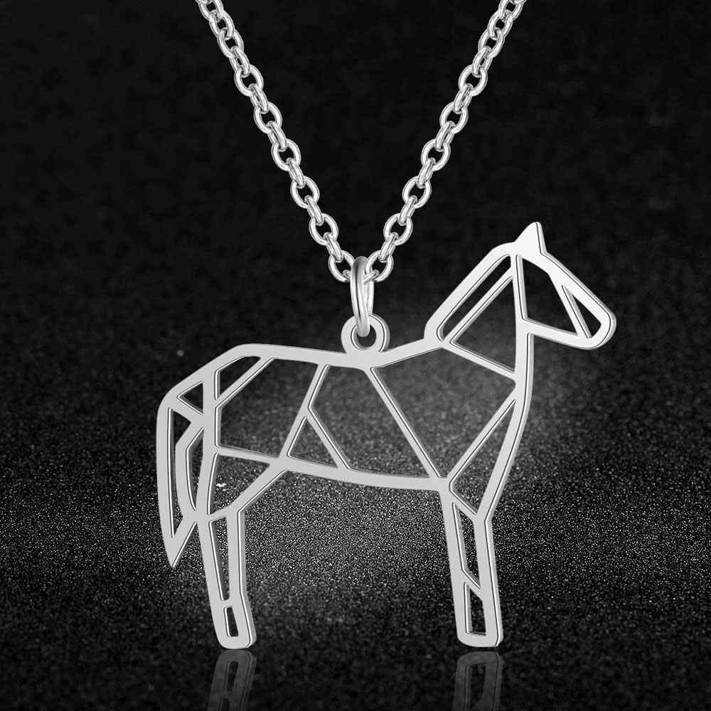 100% Real Stainless Steel Horse Necklace Italy Design Special Gift Amazing Design Unique Animal Jewelry Necklace Super Quality