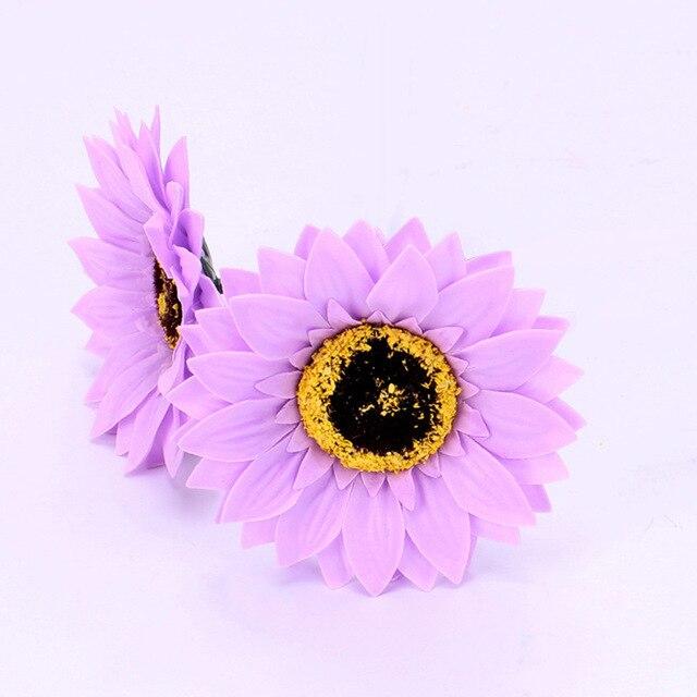 5PCS Eternal Flower Sunflower Flower Head Soap Flower Flower Shop Decoration Sun Flower Head Soap 5
