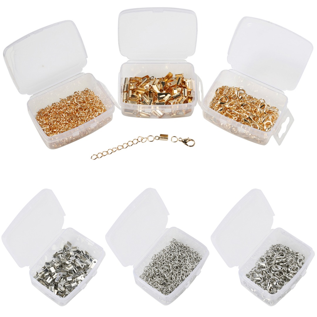 Jewelry Making Kit Lobsters Clasps and Jump Rings for Necklace Bracelet DIY