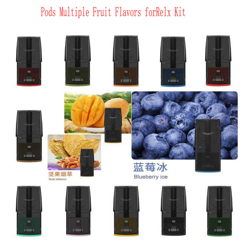15PCS,3PC Disposable POD Cartridge Atomizer Ceramic-Coil 2ML E-cigarette Vape Pods Fit For Relx Kit Multiple Fruit Flavors