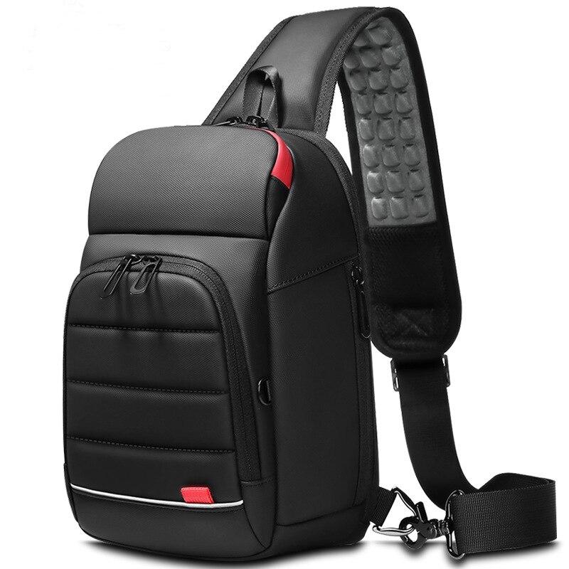 Male Crossbody Bags for fashion Shoulder Bags USB Charging Messenger Sling Bag Chest Bag Oxford Single Shoulder Strap Pack 2020